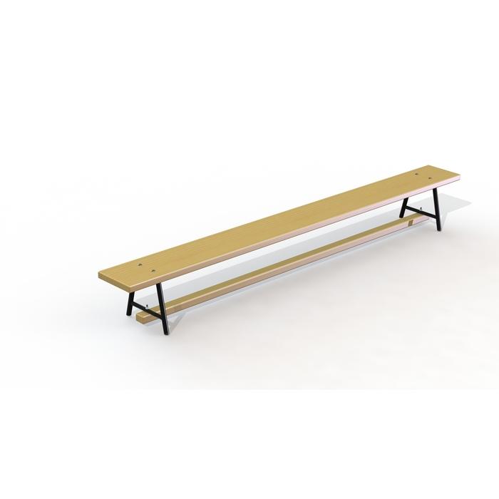 Скамейка гимнастическая деревянная 1,5 м, металлические ножки