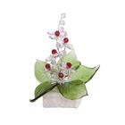 Хрустальные цветы на мраморе №22 CR r