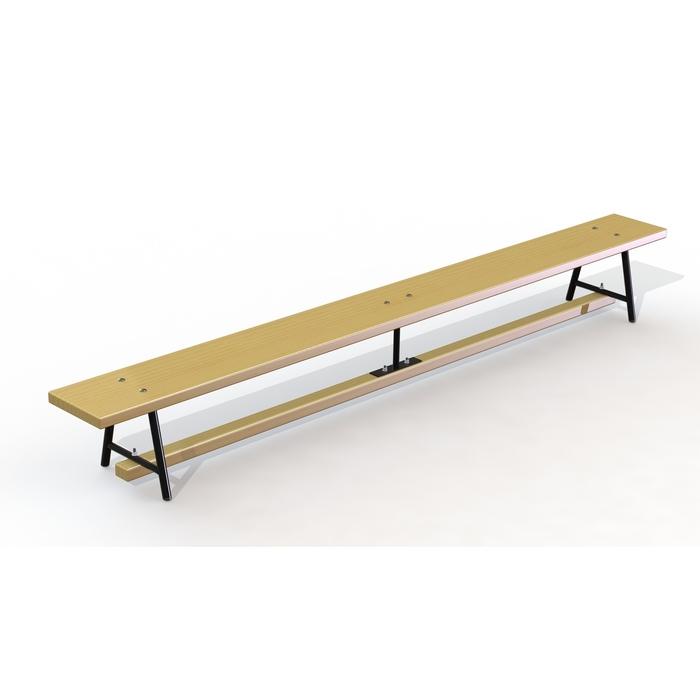 Скамейка гимнастическая деревянная 3,5 м, металлические ножки