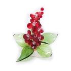 Хрустальные цветы на мраморе №22 RED