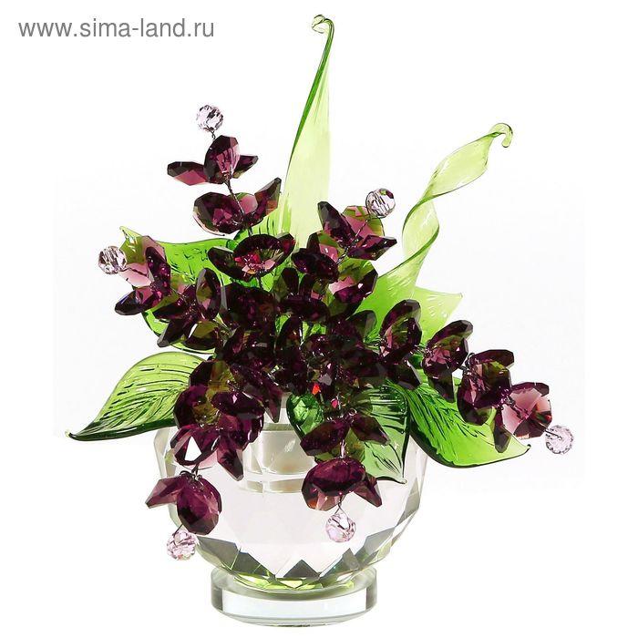 Хрустальные цветы в вазочке №51 VIN