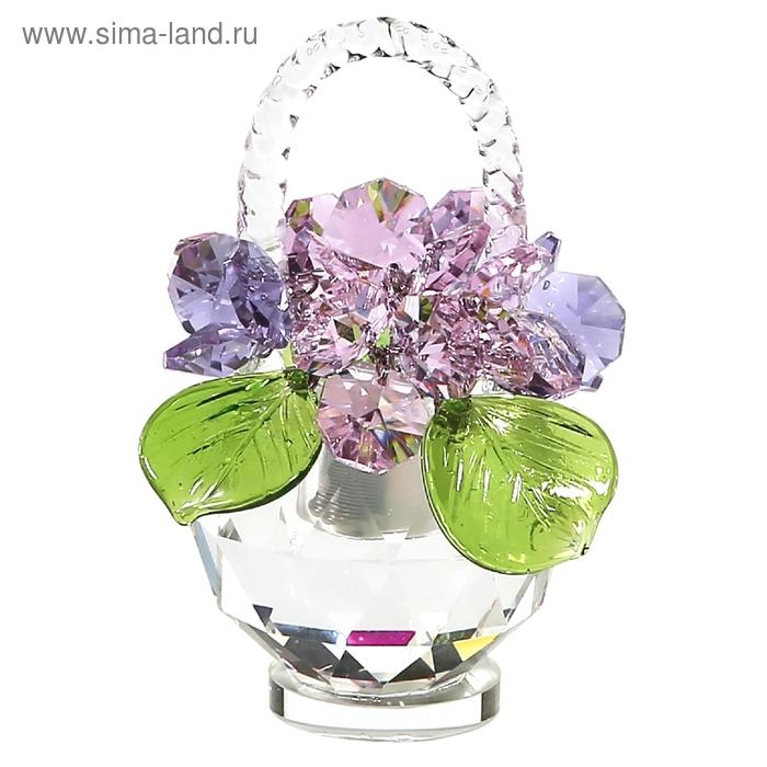 Хрустальные цветы в корзинке №31 RVL