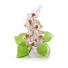 Хрустальные цветы на мраморе №22 ROS