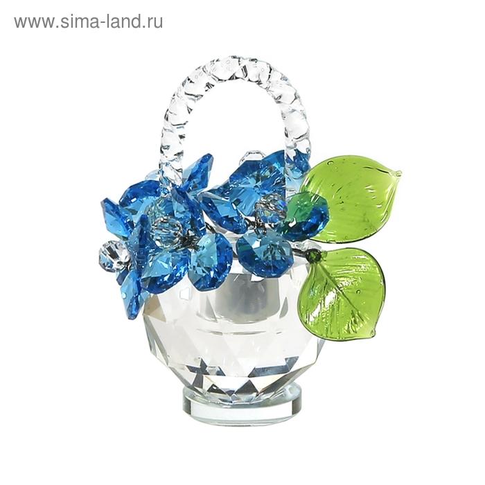 Хрустальные цветы в корзинке №32 Ant Green