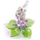 Хрустальные цветы на мраморе №22 VL