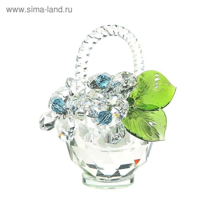 Хрустальные цветы в корзинке №32 CR ag