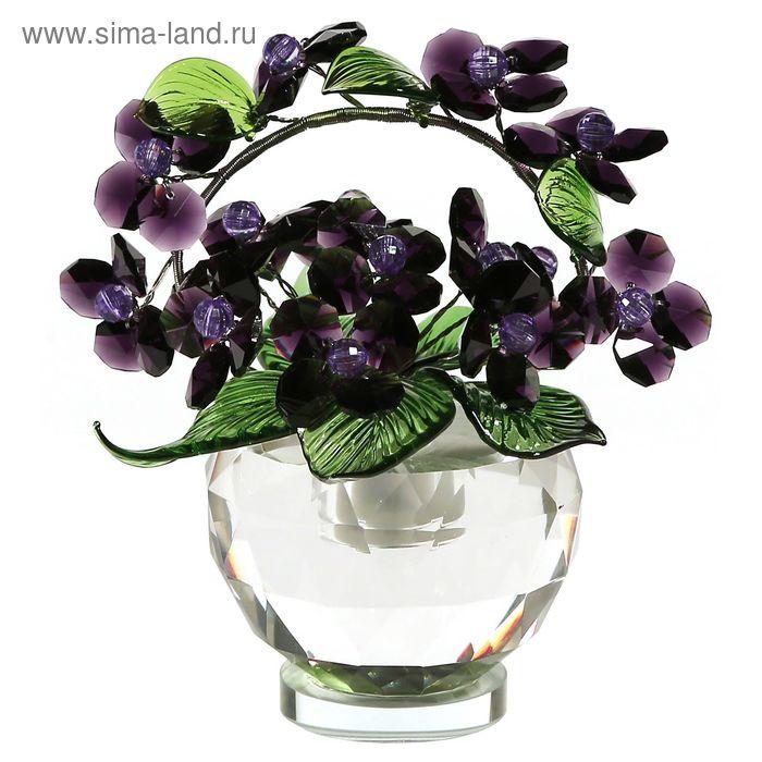 Хрустальные цветы в вазочке №52 BL VL v