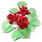 Хрустальные цветы на мраморе №23 RED
