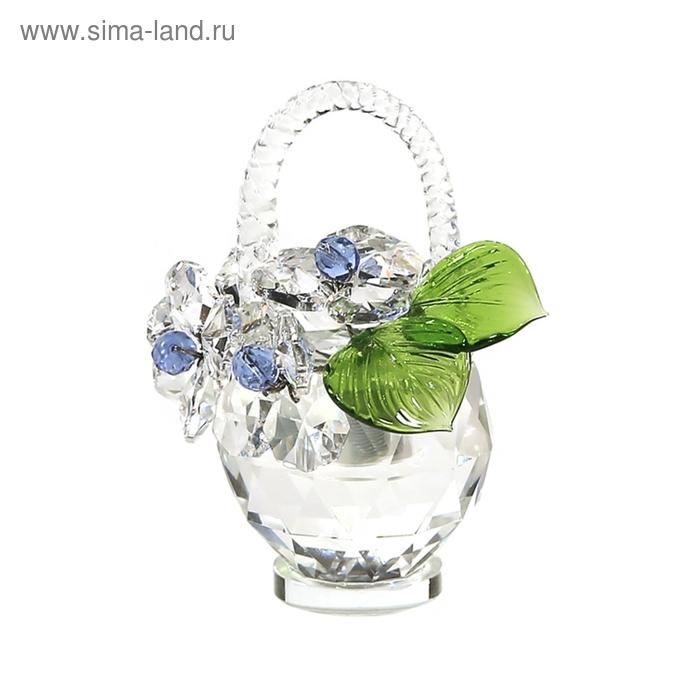 Хрустальные цветы в корзинке №32 CR lb