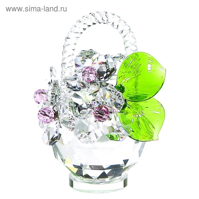 Хрустальные цветы в корзинке №32 CR ros