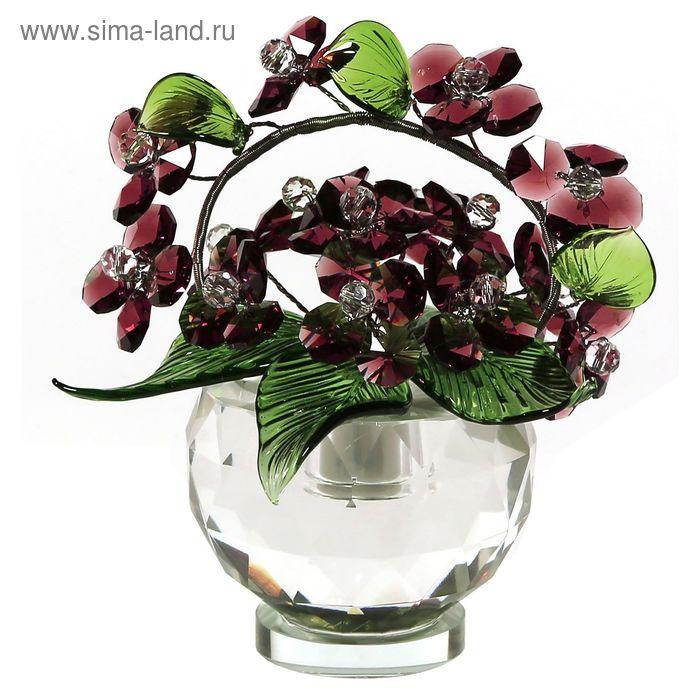 Хрустальные цветы в вазочке №52 VIN