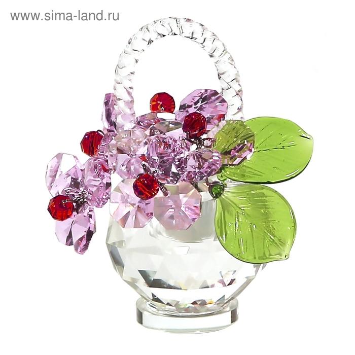 Хрустальные цветы в корзинке №32 ROS