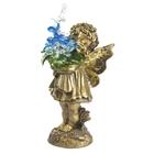 """Статуэтка """"Маленькая фея с хрустальными цветами"""" Сr ag"""