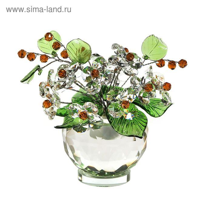 Хрустальные цветы в вазочке №53 CR t