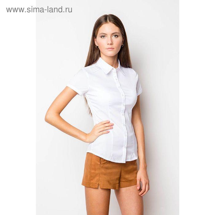 Блузка короткий рукав арт.905-132189L-1, р-р 50, цвет белый