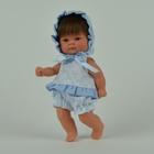 """Кукла """"Пупсик в бело-голубом костюмчике в бантик"""""""