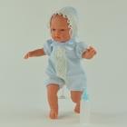 "Кукла ""Гугу"" в голубом костюмчике с бежевым кружевом"