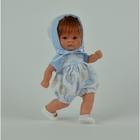 """Кукла """"Пупсик в бело-голубом костюмчике с барашками"""""""