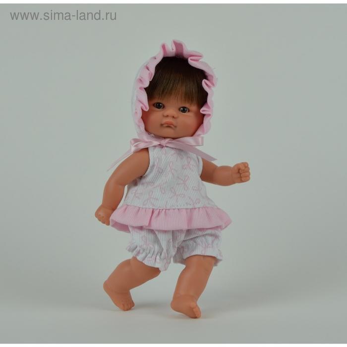 "Кукла ""Пупсик в бело-розовом костюмчике с бантиками"""