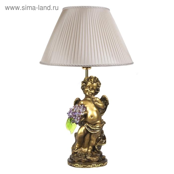 """Настольная лампа """"Ангел с хрустальными цветами"""" VL"""