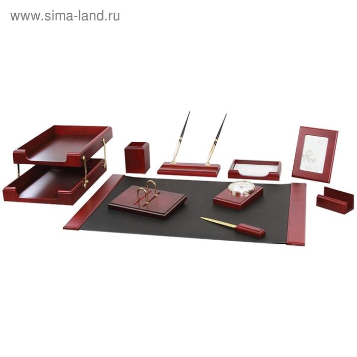 """Набор настольный """"Stockholm"""" 10 предметов, красное дерево"""