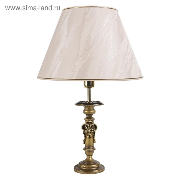 """Настольная лампа """"Ампир"""", шелк бежевый"""