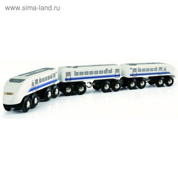 BRIO.Пассажирский поезд, экспресс, 3 элемента, 39х3,4х4,6см, шт