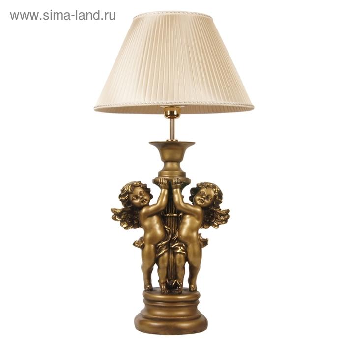 """Настольная лампа """"Ангелы"""", шелк бежевый"""