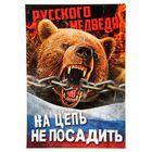 """Плакат А4 """"Русского медведя на цепь не посадить"""", картон"""
