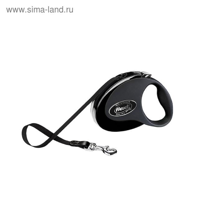 Рулетка Flexi  Collection М (до 25 кг) 5 м лента, черная