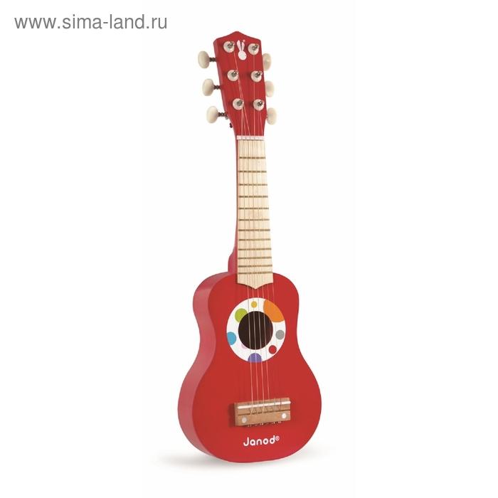 Гитара, цвет красный
