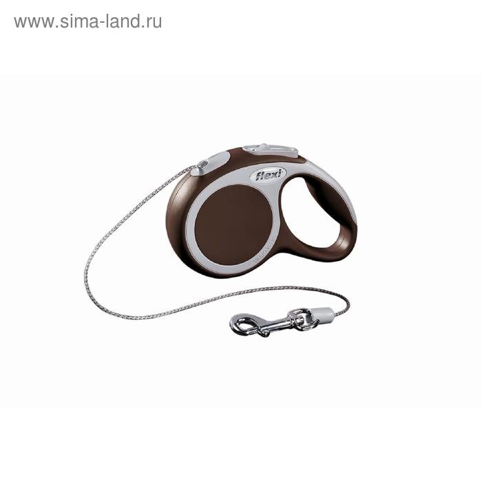 Рулетка Flexi  VARIO XS (до 8 кг) 3 м трос, коричневая