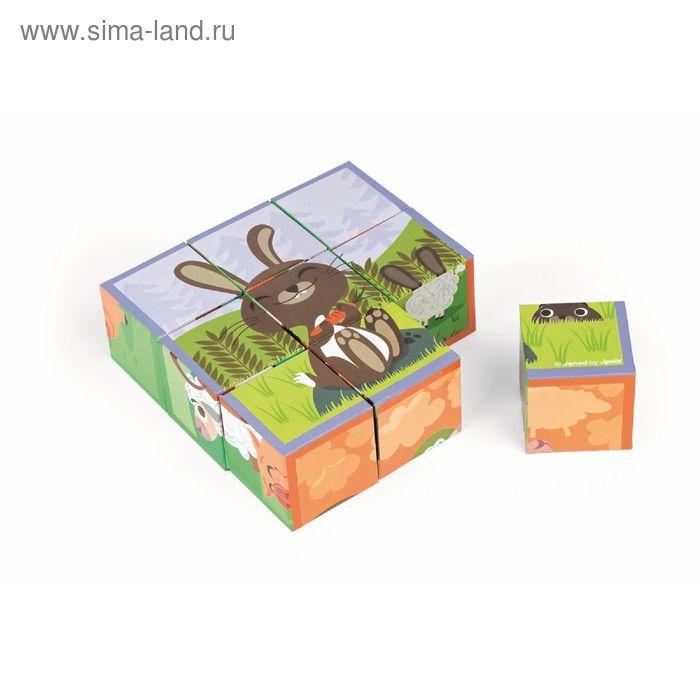 """Кубики """"Животные фермы"""", 9 элементов"""