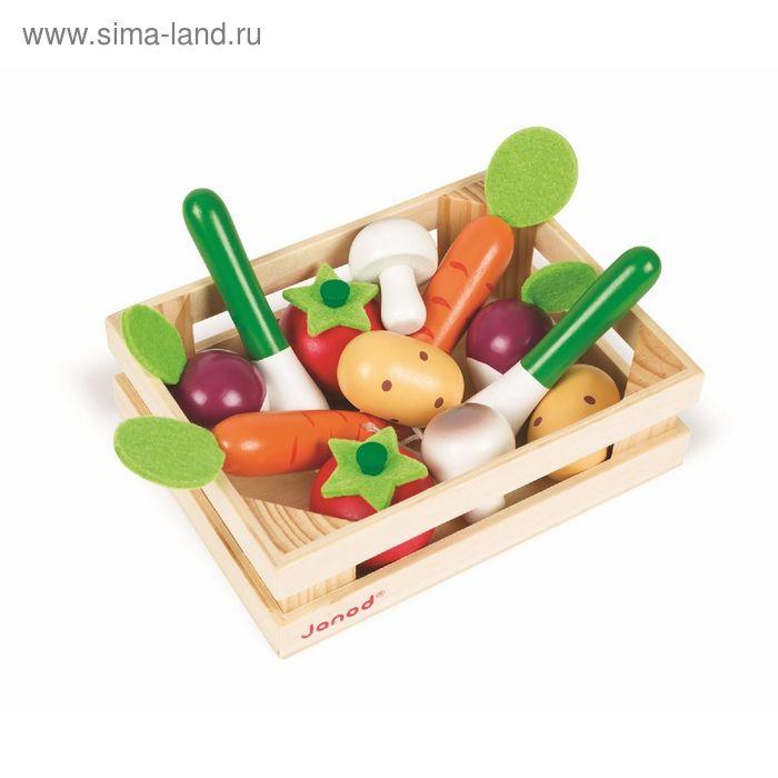 Набор овощей в ящике, 12 элементов