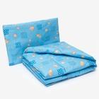 Комплект в кроватку для мальчика (одеяло 110*140 см, подушка 40*60 см), цвет МИКС