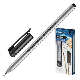 """Ручка шариковая масляная PENSAN """"Triball"""", чернила черные, трехгранная, узел 1 мм, линия письма 0,5 мм"""