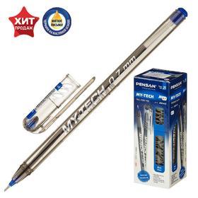"""Ручка шариковая масляная Pensan """"My-Tech"""", чернила синие, игольчатый узел 0,7 мм, линия письма 0,35 мм"""