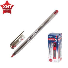 """Ручка шариковая масляная Pensan """"My-Tech"""", чернила красные, игольчатый узел 0,7 мм, линия письма 0,35 мм"""