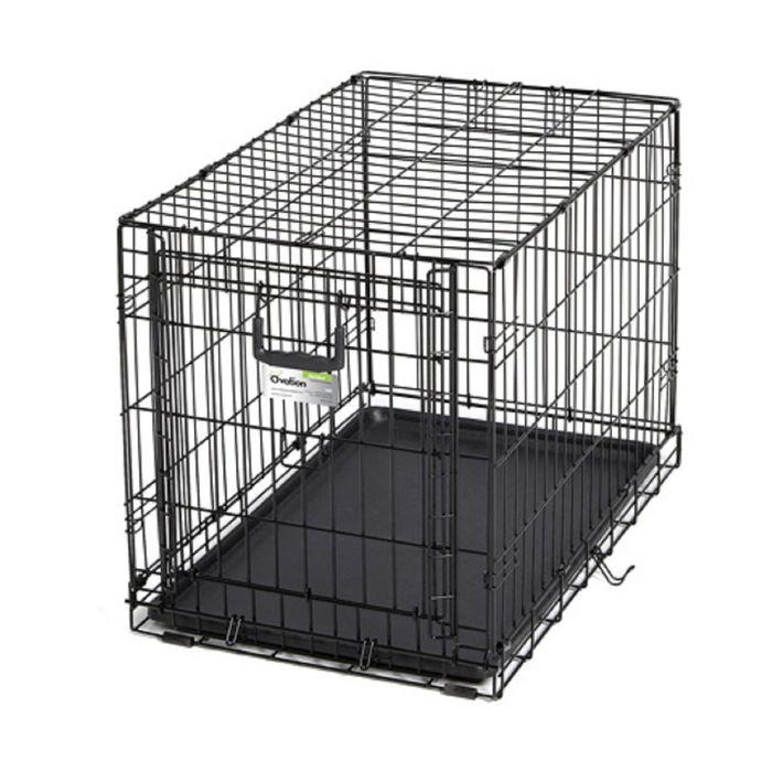 Клетка рельсовая Midwest Ovation с одной дверью, 79 х 49 х 54,6 см, черная