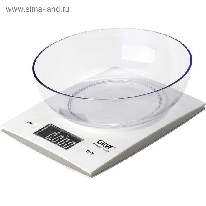 Электронные кухонные весы CALVE, до 5 кг, с чашей