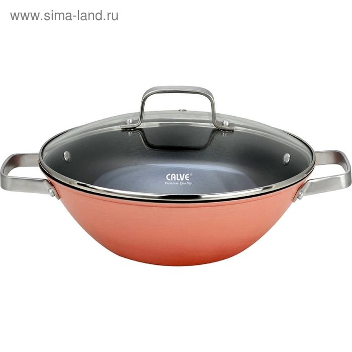 Сковорода-вок d=30 см, CALVE, с крышкой, чугун