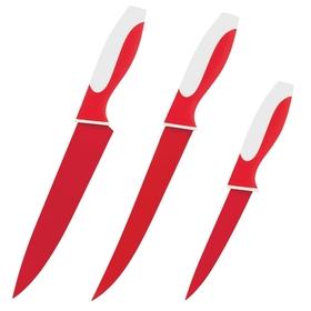 Набор ножей, CALVE, 3 предмета: восточный нож Santoku 13 см, нож поварской 20 см, цвет МИКС