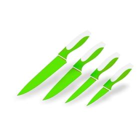 Набор ножей, CALVE, 4 предмета: восточный нож Santoku 13 см, нож поварской 20 см, цвет МИКС