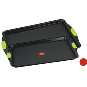 Набор форм выпечки CALVE, 2 предмета: 38 х 29 см и 43 х 30 см, с силиконовыми ручками, с антипригарным покрытием