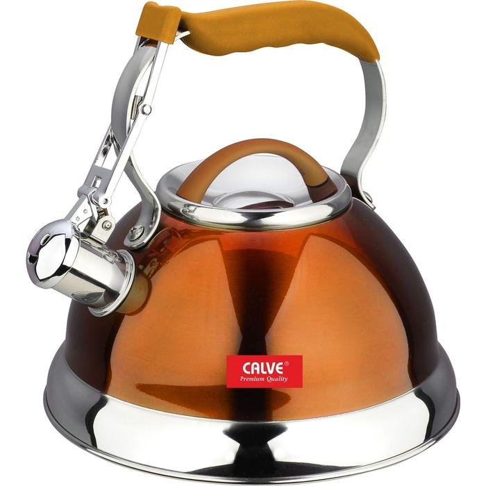 Чайник 2,7 л, со свистком, цвет МИКС