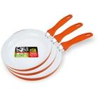 Набор сковородок, 3 предмета: d=20 см, d=24 см ,d=26 см, без крышки, с керамическим покрытием