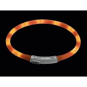 Светящийся шнурок на шею Hunter  LED  20-70 см оранжевый