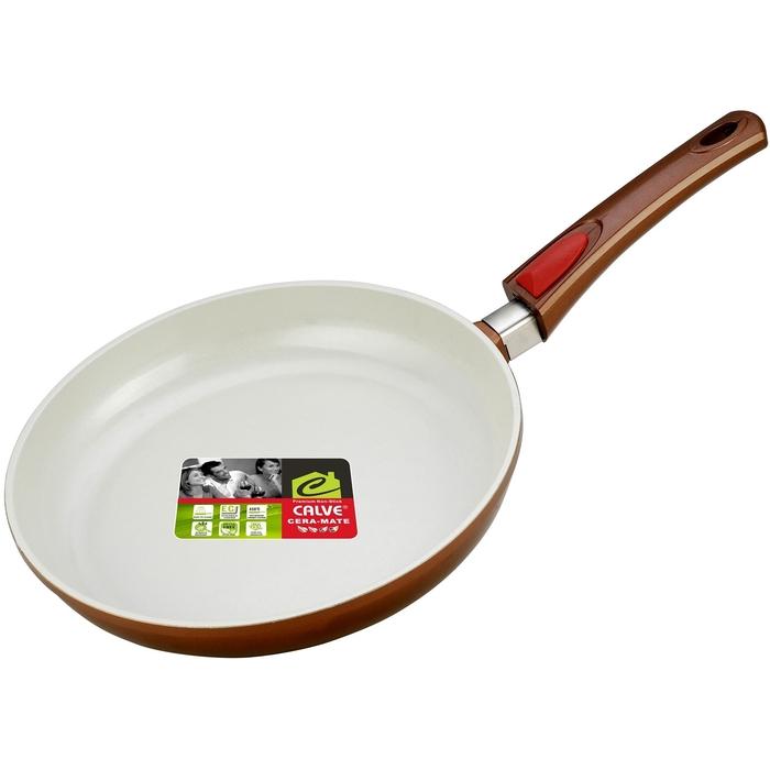 Сковорода d=28 см, без крышки, съемная ручка, с керамическим покрытием