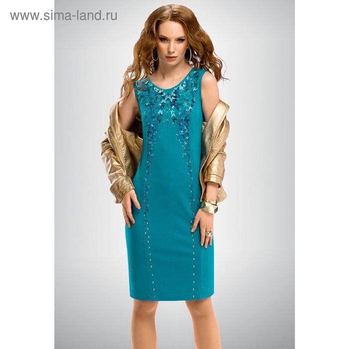 Платье женское, размер S, цвет лазурный FDV654