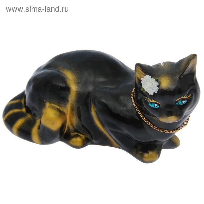 """Копилка """"Кошка Ляля"""" большая, глянец, чёрно-золотая"""